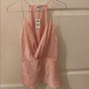Blush satin twist camisole